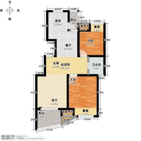 新城熙园2室0厅1卫0厨90.00㎡户型图