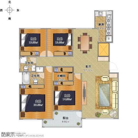 东城郡4室1厅2卫1厨204.00㎡户型图