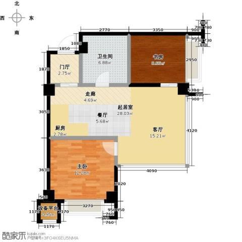 汇邦中心2室0厅1卫0厨90.00㎡户型图