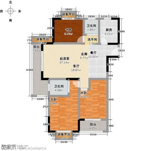 聚盛花园明日星城3室0厅2卫1厨124.00㎡户型图