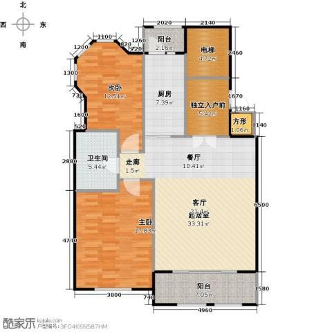 悦城2室0厅1卫1厨130.00㎡户型图