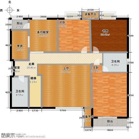 宫园壹号3室0厅2卫0厨451.00㎡户型图