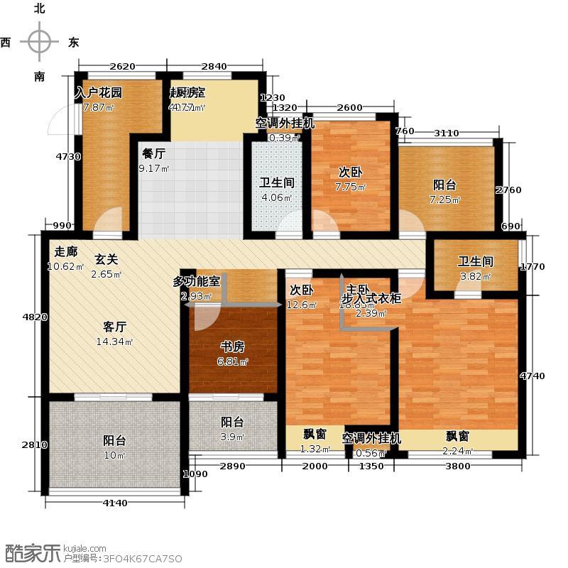 随园锦湖公寓随园锦湖公寓花园洋房A1户型4室2厅2卫145.00㎡户型
