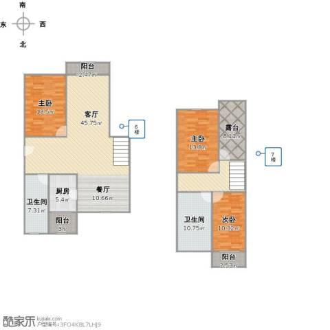 共康路400弄小区3室2厅2卫1厨175.00㎡户型图