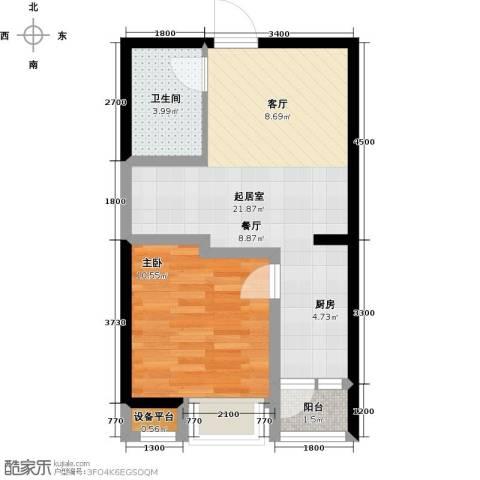 阳光台3651室0厅1卫0厨56.00㎡户型图