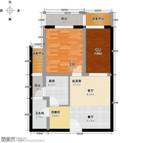 九形道2室0厅1卫1厨65.00㎡户型图