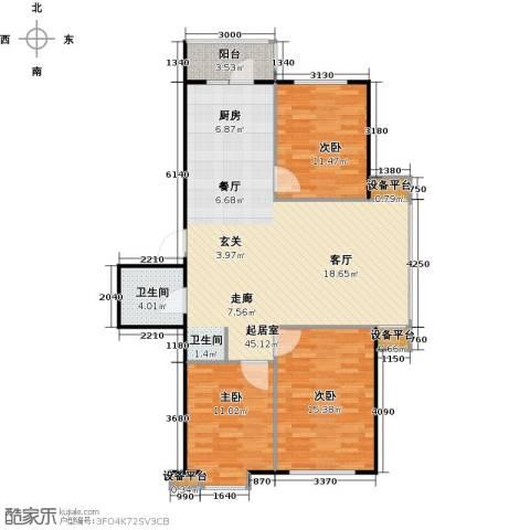 北华家园3室0厅1卫0厨123.00㎡户型图