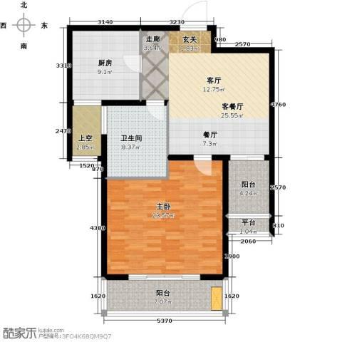 太湖湾度假村1室1厅1卫1厨116.00㎡户型图