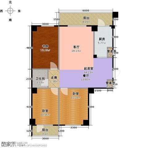 南山学府1室0厅1卫1厨125.00㎡户型图
