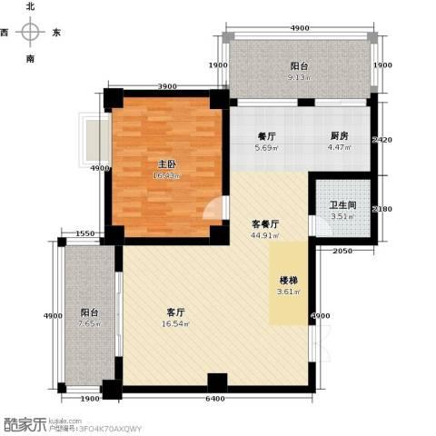汇丰国际度假公寓1室1厅1卫0厨93.10㎡户型图