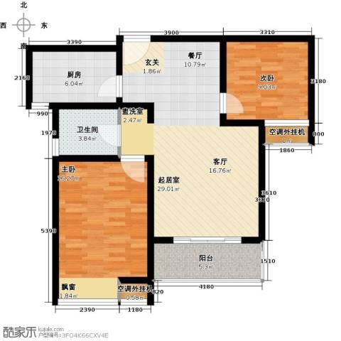 随园锦湖公寓2室0厅1卫1厨102.00㎡户型图