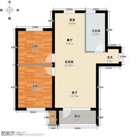 宇圣明珠2室0厅1卫0厨75.00㎡户型图