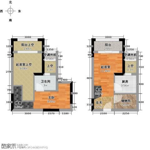 同景跃城1室0厅1卫1厨48.92㎡户型图