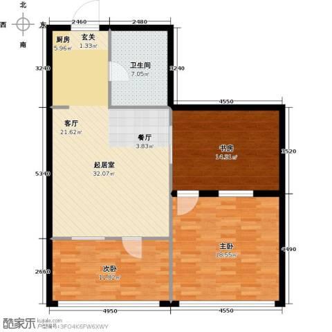 第九频道3室0厅1卫0厨93.00㎡户型图
