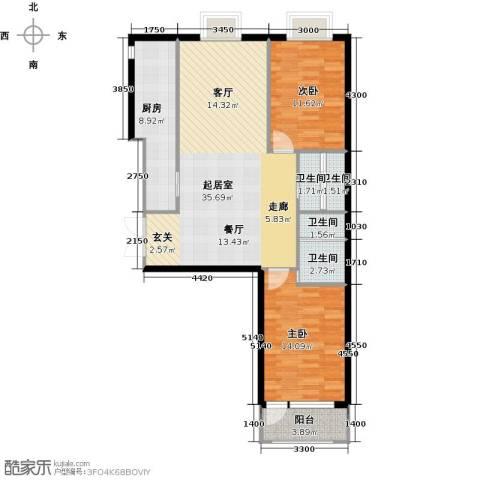 金科清都记忆2室0厅4卫1厨119.00㎡户型图