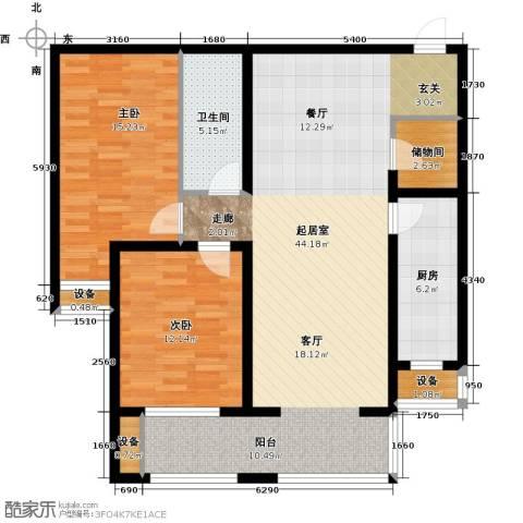 怀特翰墨儒林2室0厅1卫1厨114.00㎡户型图