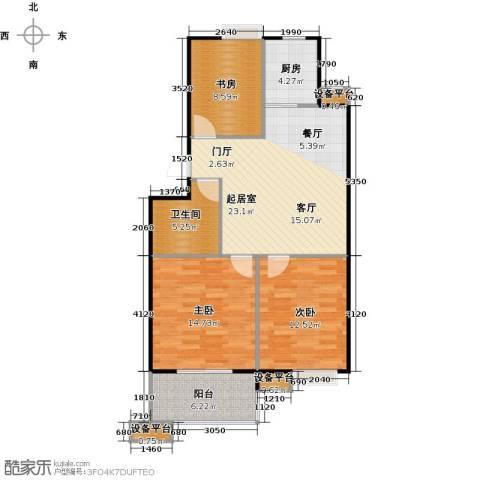 蔚海新天地3室0厅1卫1厨89.00㎡户型图