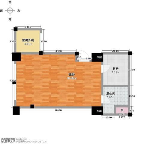 新城帝景1室0厅1卫1厨62.00㎡户型图