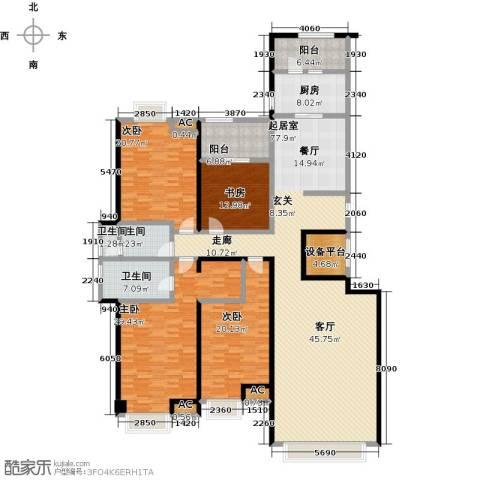 颐和星海4室0厅3卫1厨231.00㎡户型图