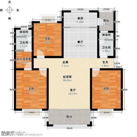 联邦・御景江山3室0厅2卫1厨143.00㎡户型图