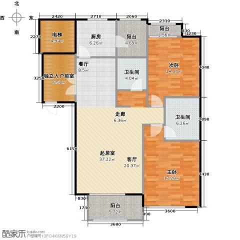 悦城2室0厅2卫1厨146.00㎡户型图