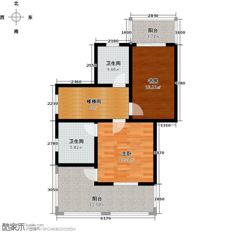 彼岸香醍C5二层平面图户型2室2卫