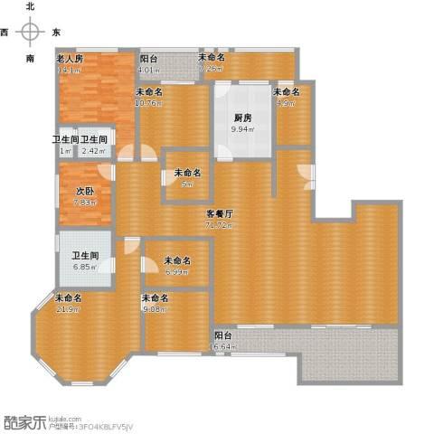 金地华公馆2室1厅3卫1厨279.00㎡户型图