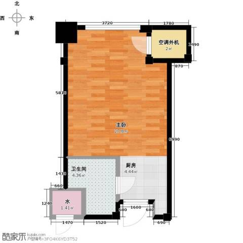 新城帝景1室0厅1卫0厨35.56㎡户型图