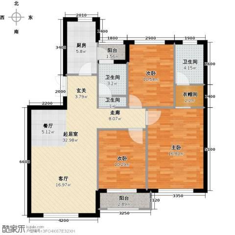 岭湾峰尚3室0厅3卫1厨113.00㎡户型图