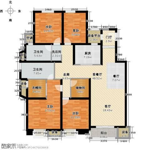 中锐星尚城4室1厅2卫1厨163.00㎡户型图