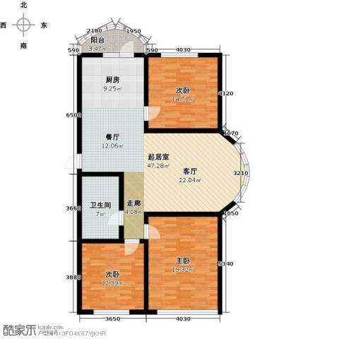 香洲心城三期3室0厅1卫0厨117.00㎡户型图