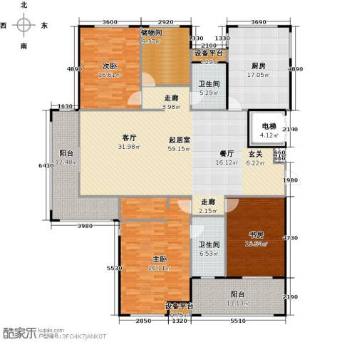 金鼎湾国际3室0厅2卫1厨199.00㎡户型图