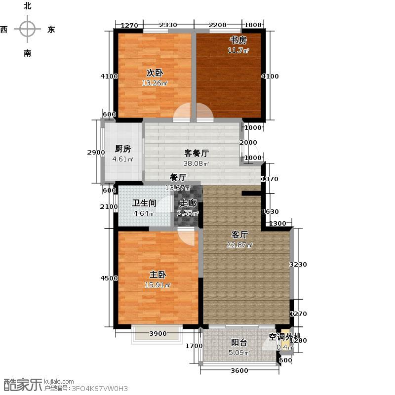 水木年华135.00㎡水木年华135.00㎡3室2厅1卫户型3室2厅1卫