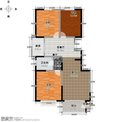 水木年华3室1厅1卫1厨135.00㎡户型图