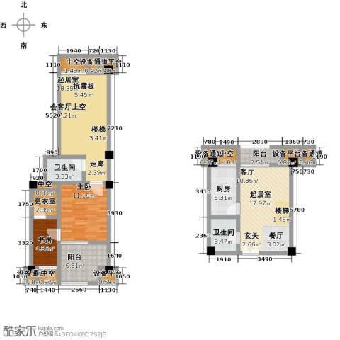 金科VISAR国际2室0厅2卫1厨83.71㎡户型图