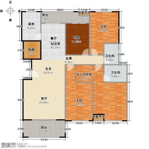 金鼎湾国际3室0厅2卫1厨184.00㎡户型图