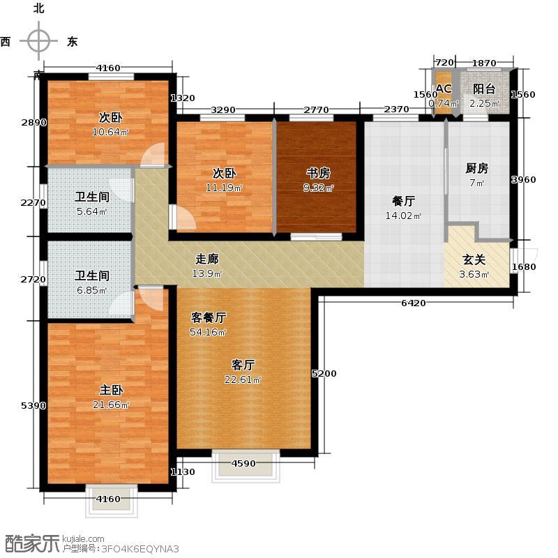 天津大都会175.00㎡五号地块 E户型4室2厅2卫