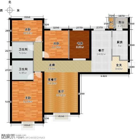 天津大都会4室1厅2卫1厨175.00㎡户型图