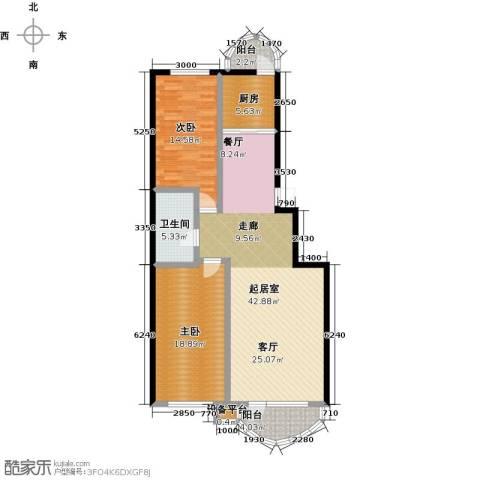 香洲心城三期2室0厅1卫1厨100.00㎡户型图