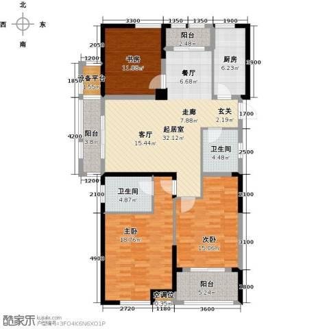 香榭里3室0厅2卫1厨140.00㎡户型图