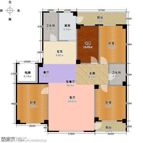 南山学府1室1厅2卫1厨184.00㎡户型图