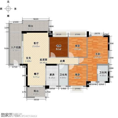 盈悦豪庭4室0厅2卫1厨134.00㎡户型图