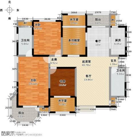花好月圆3室0厅2卫1厨161.00㎡户型图