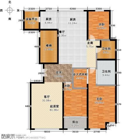 晋合公寓3室0厅2卫1厨217.00㎡户型图