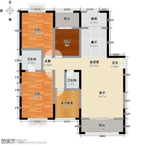 益华御才湾3室0厅2卫1厨158.00㎡户型图