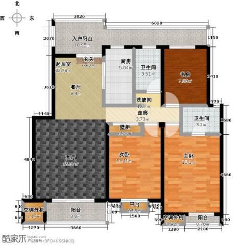 国信观湖湾3室0厅2卫1厨125.00㎡户型图