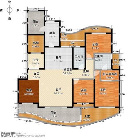 台�国际广场3室0厅2卫1厨255.00㎡户型图