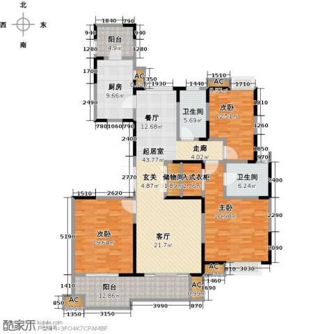 中星湖滨城四期3室0厅2卫1厨205.00㎡户型图