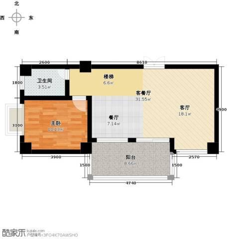 汇丰国际度假公寓1室1厅1卫0厨78.00㎡户型图