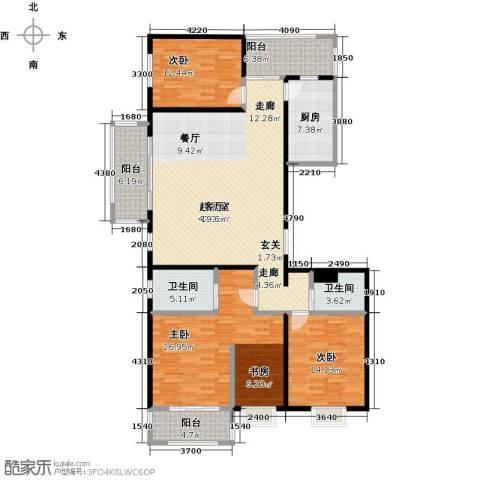 曲江风景线3室0厅2卫1厨188.00㎡户型图